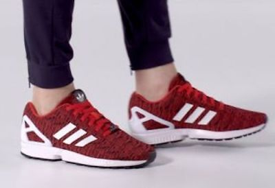 32959dafe New ADIDAS Originals ZX Flux Casual Sneakers Mens red black white sz 9.5-10