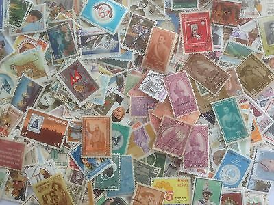 500 Different Nepal Stamp Collection - Commemoratives only