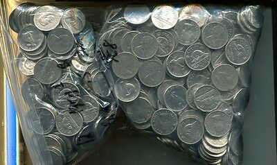 Canada Nickel Lot Of Of 872 Coins 1981 And Before Circulated Bu Mixed Dates