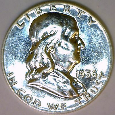 1956 Franklin Half Dollar Proof-58