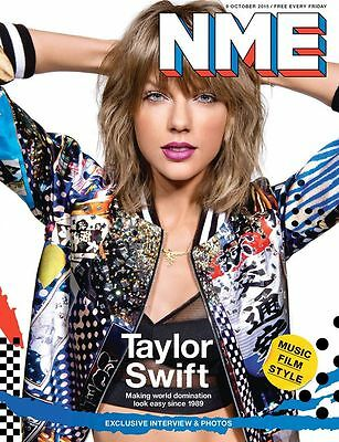 1989 TAYLOR SWIFT Photo Cover interview UK NME MAGAZINE OCTOBER 2015