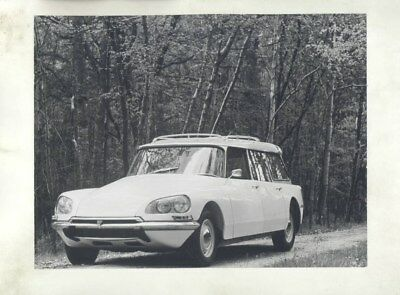1968 ? Citroen DS Super Safari Station Wagon ORIGINAL Factory Photograph wy3229
