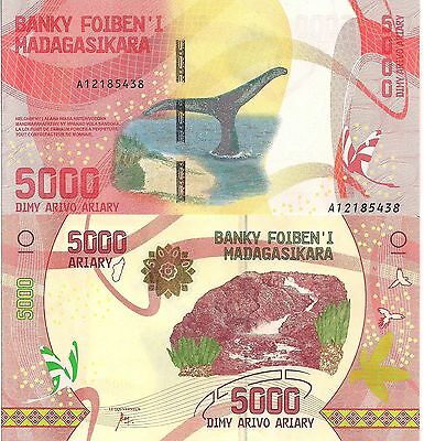 MADAGASCAR 5000 Ariary Banknote World Paper Money UNC Currency Pick p-new 2017