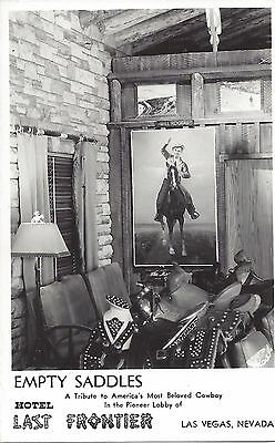 Real Photo Postcard: Hotel Last Frontier Tribute to Will Rogers - 1940's