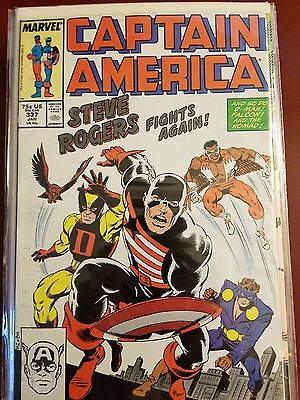 Captain America #337 338 339 (1987) Marvel Comics 1St Appearance Of The Captain!