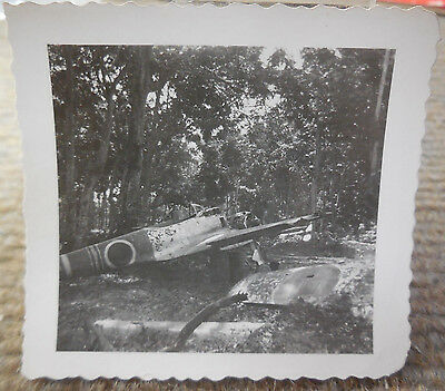 Vintage WW II B/W Photograph of Destroyed Japanese Aircraft #2 • $9.99