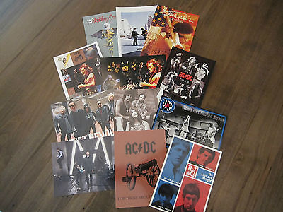 Lot of Twelve (12) - Classic Rock Postcards AC/DC / The Who /