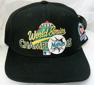 Florida Marlins World Series Champions Cap Hat Snap Back Fish Logo 1997 Nwt