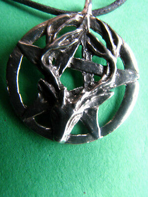 PENTACLE Of The STAG Pewter Pendant Wicca Pagan Witch Druid Celtic Shaman