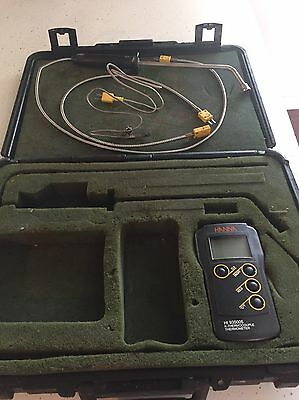 HANNA HI 935005 K-THERMOCOUPLE THERMOMETER with case & probes USED