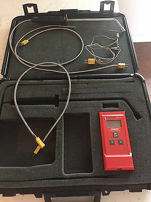 Thermo Electric Pronto Digital Thermometer with case & probes USED