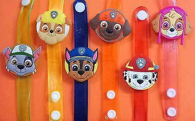 Paw Patrol Dog Flash LED Light Glow Bracelet Kids Toy Birthday Gift Party Favor