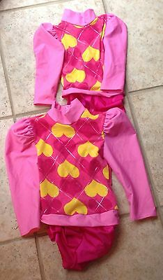 2 Girls * KELLE * Dance Recital Competition Costumes~size medium & extra small