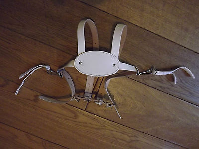 White Leather Baby Reins Silver Cross Pram or Walking NEW