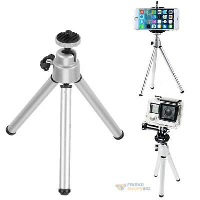 Mini Portable Aluminum Alloy Tripod Camera Stand Holder for GoPro Phone Camera
