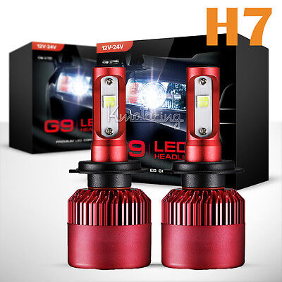 Pair H7 960W CREE XHP50 Single Beam LED Headlights Bulbs Kits 6500K Fog Lamps