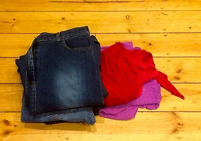 10 Dkny Ripe Maternity Clothes Jeans Breast Feeding Tops Trousers Shorts Size 14