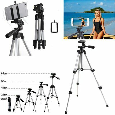 Aluminum Camera Tripod Stand + Phone Holder for Smartphone iPhone Samsung