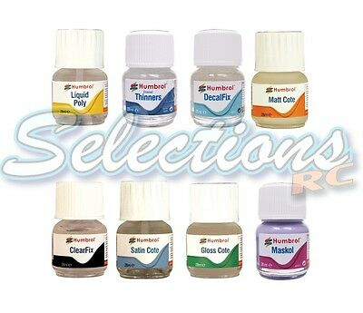 Humbrol 28ml Glass Jar Modeling / Paint Accesories / Finishing  8 Variations