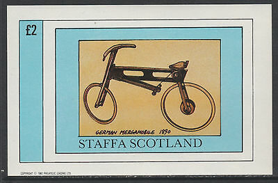 GB Locals - Staffa 5151 - 1982  BICYCLES  imperf deluxe sheet u/m