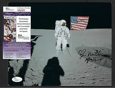 "Edgar Mitchell signed 8""x10"" Photograph JSA Authenticated Apollo 14 Astronaut"