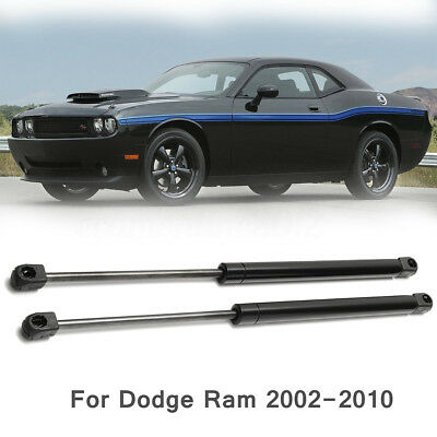2X Front Bonnet Hood Lift Supports Shock Gas Struts Arm For 02-10 Dodge Ram 2500