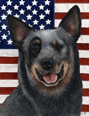 Large Indoor/Outdoor Patriotic II Flag - Australian Cattle Dog 32072