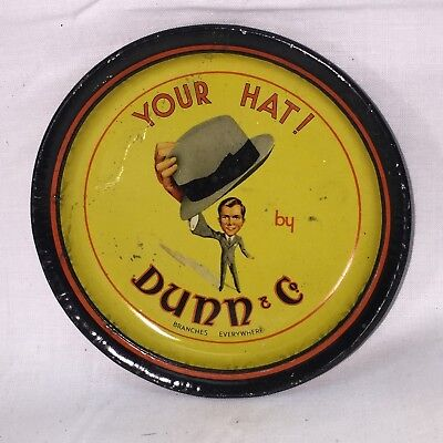 Rare Antique TIP TRAY Dunn & Co. Hat Makers Hatters