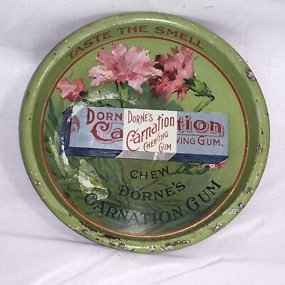 Rare Antique TIP TRAY Dorne's Carnation Chewing Gum Taste the Smell