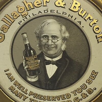 Antique Pre Pro TIP TRAY Gallagher & Burton Rye Whiskey Philadelphia Prohibition