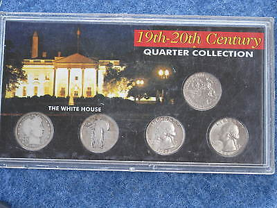 1916-1981 19th-20th Century Quarter Collection of Five Coins E0044
