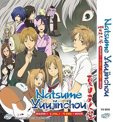 NATSUME YUUJINCHOU Box | Seasons 01-06+Movie | 01-75 | 7 DVDs (VS0236)