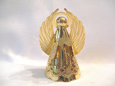1988 Hallmark Miniature Mini Christmas Heavenly Glow Angel Brass Tree Topper
