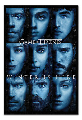 Framed Game Of Thrones Winter Is Here Poster New