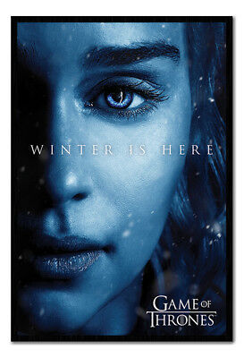 Framed Game Of Thrones Daenerys Winter Is Here Poster New