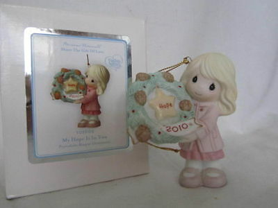 2010 Annual dated Precious Moments ORNAMENT My Hope is in You 101002 porcelain
