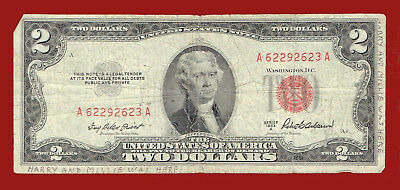 "1953-A ""united States Note"" Two Dollar (Red Seal) Note 2623"