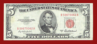"1953-A Five Dollar ""united States Note"" $5 Note 5062"