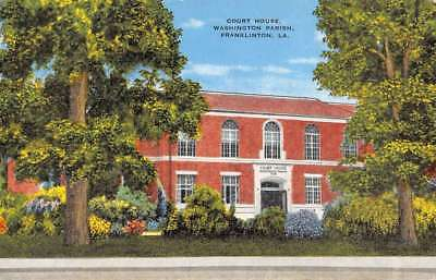 FRANKLINTON LOUISIANA WASHINGTON Parish Court House Antique Postcard K69544