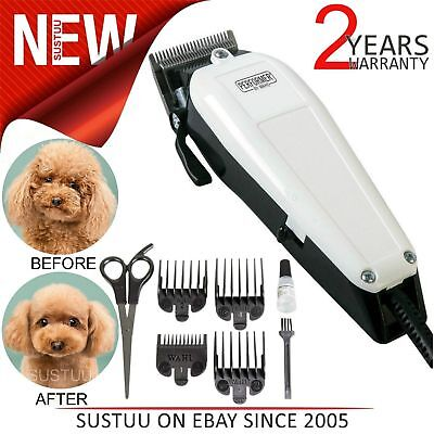Wahl Performer Dog Animal Shaver Clipper Kit│with 4xCombs, Steel Blades, Scissor