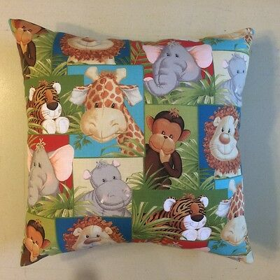 New Jungle Babies Nursery Children's Animals Complete Cotton Throw Pillow
