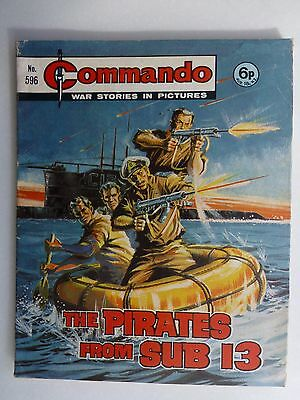 No 596 From 1971 The Pirates from Sub 13 Commando Comic War Stories in Pictures.