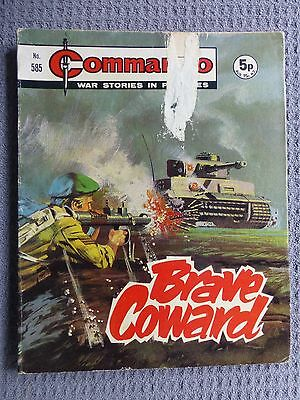 No 585 From 1971 Brave Coward War Commando Comic War Stories in Pictures.