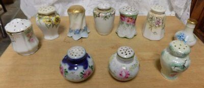 Lot Of Antique Single Shakers~Bavaria, Nippon~Floral Design~Mixed