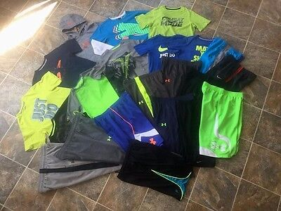 24pc. Under Armour Nike North Face Hoodie Shirt Shorts Pants Lot Boys Youth L/XL