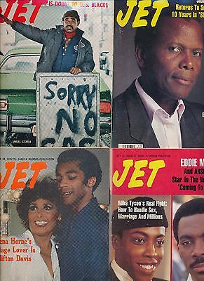 LOT(16)JET MAGAZINES NO LABELS 1973-90 Arsenio Murphy Poitier Bailey Barry Horne