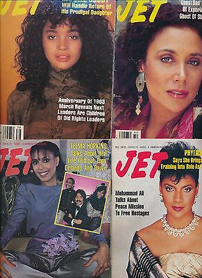 Lot (16) Jet Magazines No Labels Very Good-Excellent Condition 1974-1993