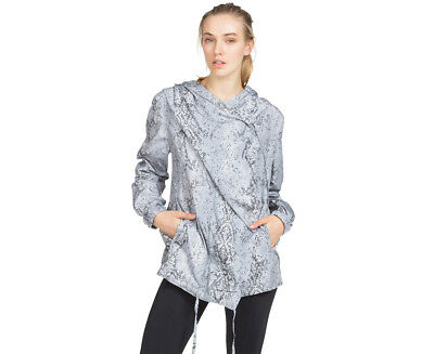 Calvin Klein Performance Women's Snakeskin Hooded Arena Jacket - Stone