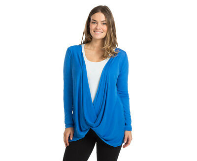 Ripe Maternity Layer It Up Twist Cardi - Blue Belle