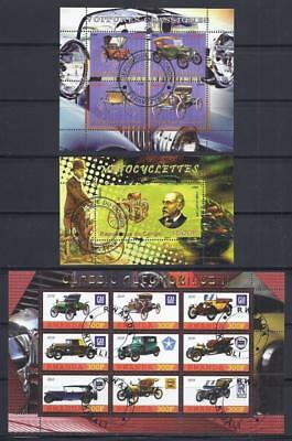 FS9274 Souvenir Sheet Special 3 Diff Classic Car GM Rolls Royce Chrysler & Cycle